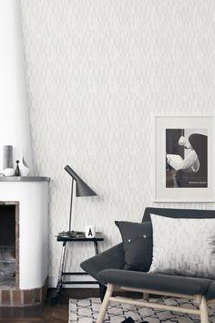 Wallpapers by Scandinavian nr. 2759 by Boråstapeter (design Arne Jacobsen). Kitchen Wallpaper, Of Wallpaper, Beautiful Wallpaper, Interior Architecture, Interior And Exterior, Interior Design, Arne Jacobsen, Scandinavia Design, Scandinavian Home