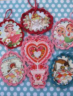 Crochet Ornaments by Reyney, via Flickr