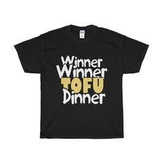 678715392 Winner Tofu Dinner Unisex Tee vegan plant based vegeterian T-Shirt -  LeafySouls Dinner