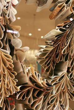 I don't know what we could do with these...but they're awesome... DIY paper decoration anthropologie