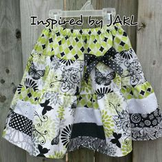 Custom Trelly Twirly skirt ~ a Sew Ninja pattern