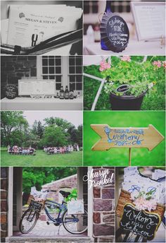 Megan + Steven | Pearl S. Buck Estate | Perkasie, PA » Sharyn Frenkel Photography | Rose Quartz and Serenity | Outdoor Wedding | DIY Wedding | Wedding signage | Wedding programs | Signature Drink