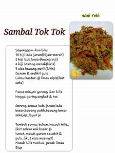 Indonesian Cuisine, Indonesian Recipes, Food N, Food And Drink, Sambal Recipe, Malaysian Food, Asian Cooking, Food Presentation, Asian Recipes