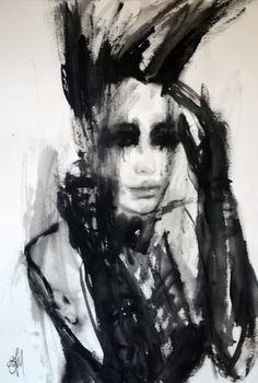 """Saatchi Online Artist: Fiona Maclean; Acrylic, 2013, Painting """" Giselle"""""""