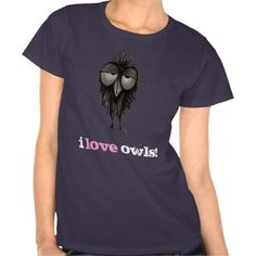I love Owls by Paul Stickland for StrangeStore #owls #strangestore #funnytshirts