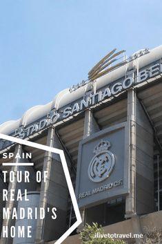 How to do a tour of Real Madrid home stadium: Bernabeu Travel Route, Travel Log, Europe Travel Guide, Europe Destinations, Spain Travel, Portugal Travel, Travel Guides, Madrid Tours, Madrid Travel