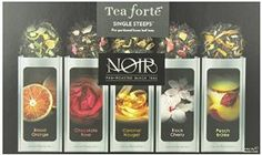Tea Samplers Fort NOIR Single Steeps Organic Loose Leaf Sampler, 15 In Pack for sale online Organic Loose Leaf Tea, Tea Varieties, The Noir, Gourmet Food Gifts, Chocolate Roses, Tea Packaging, Tea Gifts, Best Candy, Tea Blends