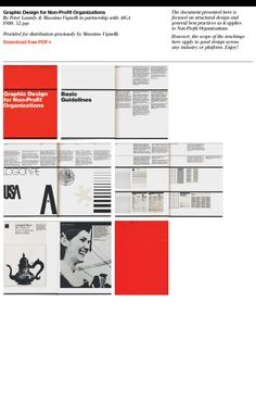 The rare Graphic Design for Non-profit Organizations by Massimo Vignelli and Peter Laundry is now available as PDF Graphic Design Books, Graphic Design Studios, Graphic Design Typography, Graphic Design Inspiration, Book Design, Massimo Vignelli, Web Design, Creative Design, Layout Design