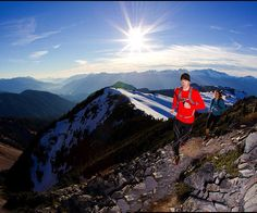 Running up a mountain in Squamish.  You have to work for the reward!  Photo from @ christieimages Instagram