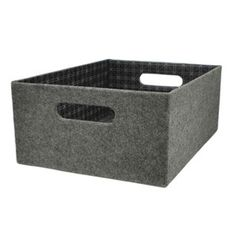 Attirant Shop Allen + Roth Medium Gray Felt Storage Bin At Loweu0027s Canada. Find Our  Selection Of Storage Bins U0026 Baskets At The Lowest Price Guaranteed With  Price ...