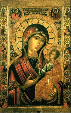 Religious Images, Religious Icons, Religious Art, Byzantine Icons, Byzantine Art, Blessed Mother Mary, Blessed Virgin Mary, Madonna, Russian Icons
