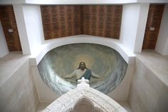Installation of Vicoustic Wave Wood acoustic panels in St Gabriel Church, Ajaltoun, Lebanon Saint Gabriel, Visual Display, Acoustic Panels, Media Images, Worship, Saints, Audio, Waves, Construction