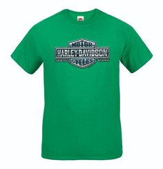 """""""Cold Chrome"""" Tee - Antique Irish Green - Available in sizes S - at your local Harley-Davidson® dealer. Harley Davidson Store, Harley Davidson Dealers, Motorcycle Jeans, 2016 Winter, Irish, Chrome, Cold, Antique, Clothing"""