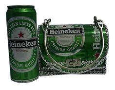 Handmade Handbag Made Of Used Heineken Cans (Сумочка ручной работы Сделано ИСПОЛЬЗОВАННЫХ Heineken Банки)