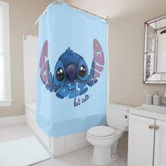 Stitch Complicated But Cute 2 Shower Curtain , Lilo Y Stitch, Stitch Cartoon, Cute Stitch, Stitch Doll, Disney Stitch, Disney Bathroom, Disney Bedrooms, Plywood Furniture, Custom Shower Curtains