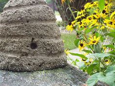 Love concrete bee skeps.