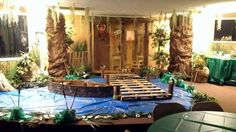 swamp scene for cajun swamp party