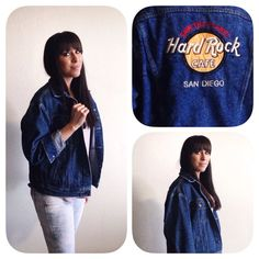 Hard Rock Cafe San Diego Vintage Denim Size Large Jacket  on Etsy, $50.00