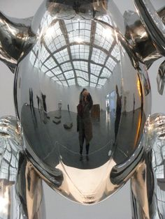 """""""Shiny Self Portrait"""" at the Museum of Contemporary Art in Chicago (c) Angela Mack 2010 Chicago C, Museum Of Contemporary Art, Ear, Portrait, Artist, Photos, Portrait Illustration, Portraits, Cake Smash Pictures"""