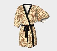 "Kimono+Robe+""Kokeshi+Tree+of+life""+by+Pendientera"