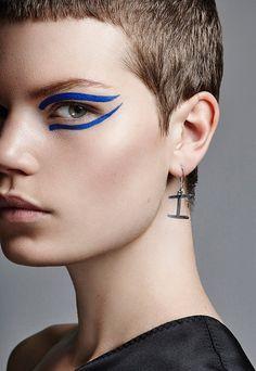 Photographer Frauke Fischer. Grazia Germany's latest edition. Hair & MAKEUP by beauty artist MELANIE SCHOENE at Blossom Management.