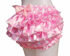 Haian ABDL PVC & Satin Ruffle Rhumba Pull on Plastic Pants Color Pink this would be perfect over a cute diaper! Frilly Knickers, Pvc Hose, Girl Outfits, Cute Outfits, Plastic Pants, Satin Material, Baby Pants, Underwear, Kawaii