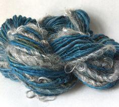 Buckets of Rain - handspun natural novelty yarn