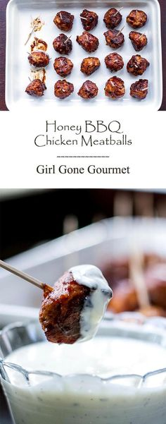 Everything you love about BBQ chicken wings - meatball style! All the flavor with no mess | girlgonegourmet.com