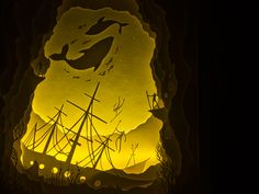 Illuminated Cut Paper Light Boxes by Hari  Deepti paper illustration dioramas