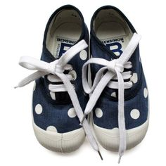 Need these!! Denim polka dot bensimon tennis shoes!  Why are they only in France?  I'm on a mission to find them in the city.