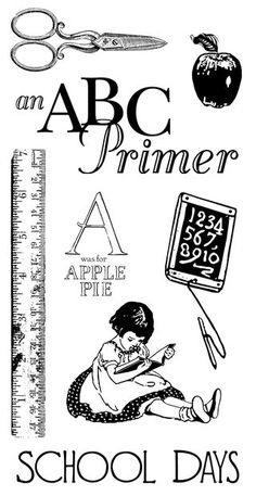Graphic 45 ABC Primer Cling stamps
