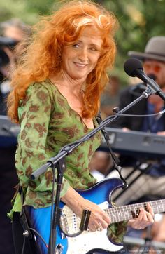 "Bonnie Lynn Raitt (b. Nov. 8, 1949) is an American blues singer-songwriter and slide guitar player. Raitt is listed as number 50 in Rolling Stone magazine's list of the 100 Greatest Singers of All Time. Wikip ""I think people must wonder how a white girl like me became a blues guitarist. The truth is, I never intended to do this for a living."" brainyquotes.com"