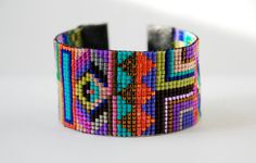 Hand Woven Beaded Friendship Bracelet by PeanutAndPoe on Etsy