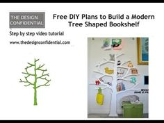 Cute shelf idea for any room.  You could draw a big beautiful tree for the main room of a home or a small cute one like this for a child's room.