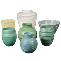 Keith Murray for Wedgewood collection vases