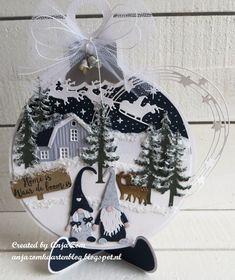 Anja Zom kaartenblog Christmas Cards 2018, Christmas Gnome, Xmas Cards, Cd Crafts, Paper Crafts, Marianne Design Cards, Rena, Christmas Decorations, Christmas Ornaments