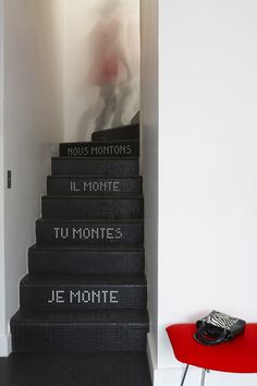 Apprendre sa conjugaison tout en montant les escaliers
