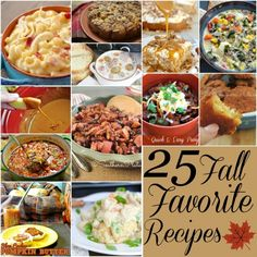 25 Fall Favorite Recipes ~ http://www.southernplate.com