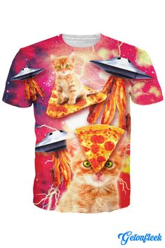 Pizza Cat Tee - Shop our entire collection of Cat Apparel! www.getonfleek.com