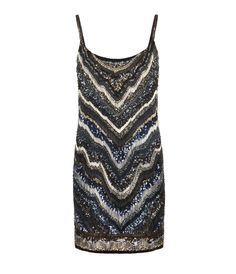 hand embellished mini dress