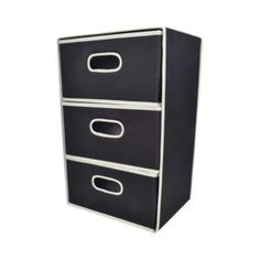 Room Essentials® 3-Drawer Organizer - Solid Black