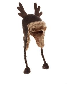 ASOS Trapper Hat with Reindeer Horns  £18.00 NOW £10.00