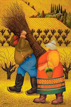 Lowell Herrero, Vineyard Mustard - I like his work. I hope to get some of them framed and hung.