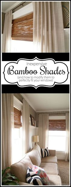 Custom Fit Your Own Beautiful Bamboo Shades