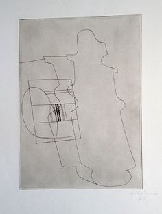 Ben Nicholson Glasstopped Bottle, 1967, etching