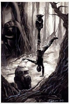Star Wars - Dagobah by J. K. Woodward