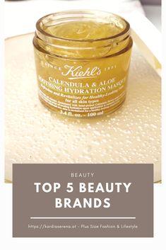 Diese 5 Beauty Brands gehören zu meinen derzeitigen Lieblingen. Um welche Brands es sich handelt und welche Produkte ich vorstelle erfährst du am Blog.  #beauty #beautybrand #top5 Kiehls, Top 5, Aloe, Plus Size Fashion, Beauty, Up, Trends, Outfits, Branding