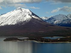 Port Alsworth, AK.  With Tanalian Mountain and Lake Clark.