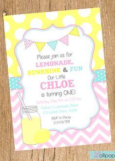 lemonade invitation lemonade stand birthday pink lemonade party printable invites 1st 2nd 3rd 4th birthday girl birthday invitation pink lemonade