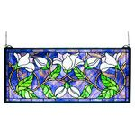 <strong>Magnolia Stained Glass Window</strong> by Meyda Tiffany